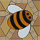 Mosspits Primary School Mosaics, 2014 - Three Bees