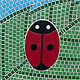 Mosspits Primary School Mosaics, 2014 - Four Ladybirds