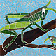 Mosspits Primary School Mosaics, 2014 - Two Grasshoppers